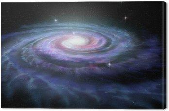 Canvas Print Spiral Galaxy Milky Way