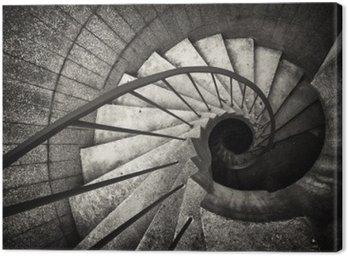 Canvas Print spiral staircase