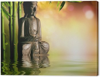 Canvas Print spiritual background of Asian culture with buddha