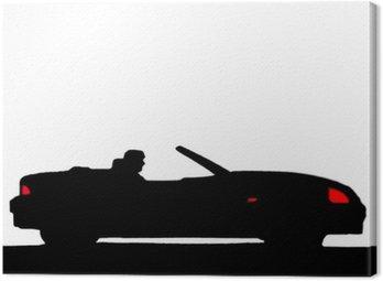 Canvas Print Sport car silhouette
