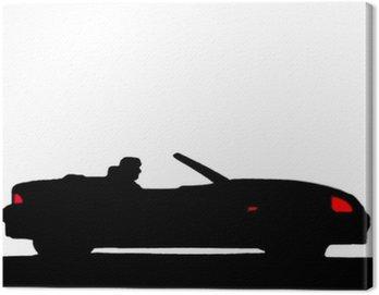 Sport car silhouette