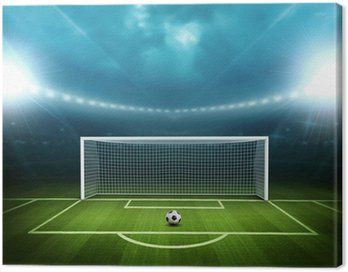 Canvas Print Stadium with soccer ball
