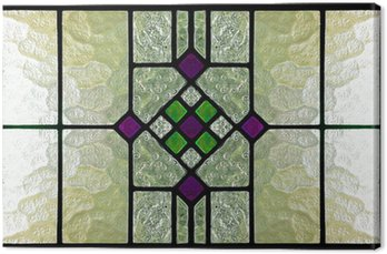 Canvas Print stained glass window