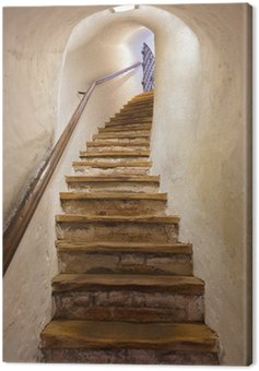 Canvas Print Stairs in Castle Kufstein - Austria