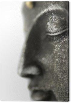 Canvas Print statue de bouddha sur fond blanc