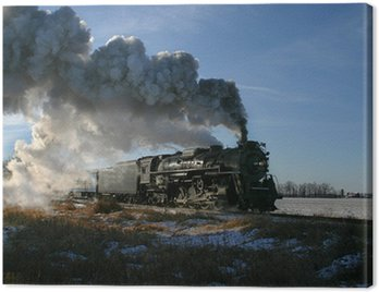 Canvas Print Steam Locomotive