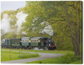 Canvas Print steam train, Boekelo - Haaksbergen, Netherlands