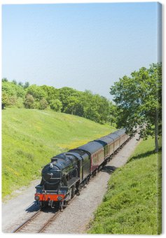Canvas Print steam train, Gloucestershire Warwickshire Railway, Gloucestershi