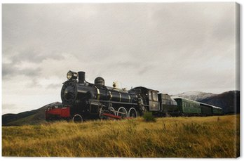Steam Train in a Open Countryside
