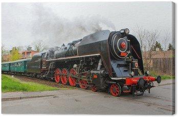 Canvas Print Steam train