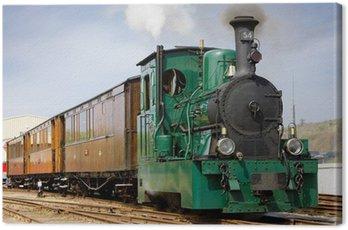 Canvas Print steam tram, RTM, Ouddorp, Netherlands