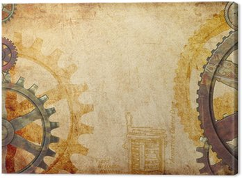Steampunk Gears and Cogs Background