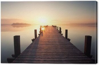 Canvas Print Stille am See