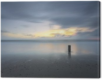 Stormy Seascape Sunset In Long Exposure