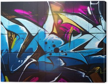 Street art graffiti Canvas Print