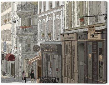 Canvas Print Street in Montmartre