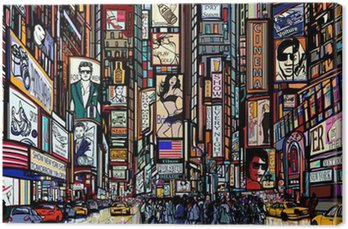 Canvas Print street in New York city