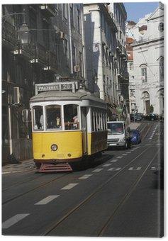 Canvas Print Street of Lissabon