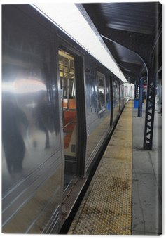 Canvas Print Subway platform