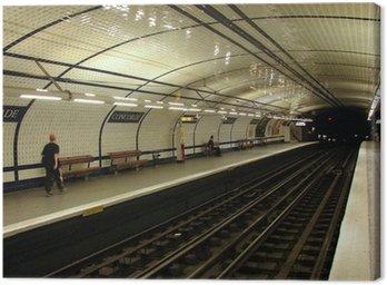 Canvas Print subway station (concorde, paris)