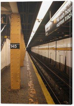 Canvas Print subway system