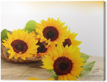 Canvas Print sun and flowers