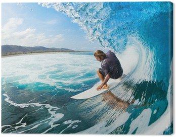 Canvas Print Surfing