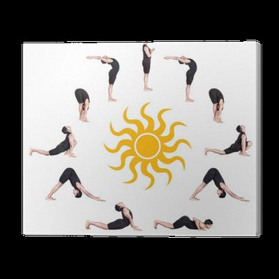 surya namaskar sun salutation canvas print • pixers® • we