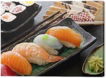 sushi und rolls Canvas Print