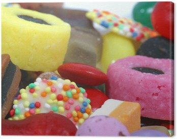 Canvas Print sweets close-up