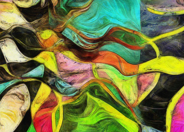 Canvas Print Swirling Shapes, Color and Lines - Graphic Resources