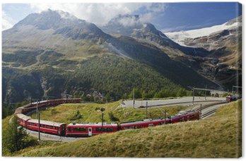 Canvas Print Switzerland railway