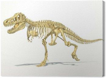 T-Rex dinosaur full skeleton, photo-realistic, scientifically co