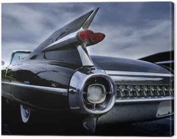 Canvas Print Tail Lamp Of A Classic Car