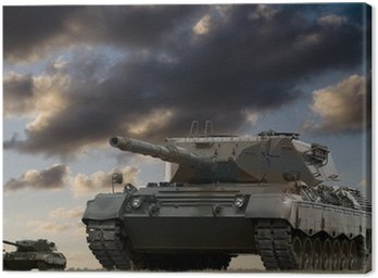 Canvas Print Tank Battle