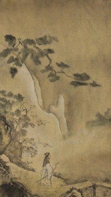 Taoist sage in the mountains
