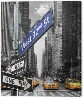 Canvas Print Taxis à New York.