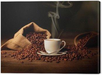 Canvas Print tazzina di caffè fumante