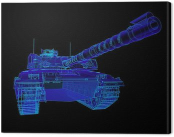 Canvas Print Technical illustration of the Challenger Main Battle Tank.