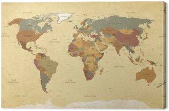 Textured vintage world map englishus labels vector cmyk wall textured vintage world map englishus labels vector cmyk canvas print gumiabroncs Choice Image
