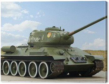 Canvas Print The 2nd World War Russian Tank T34
