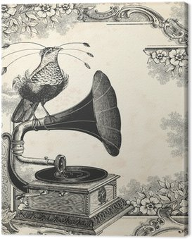 Canvas Print The bird music