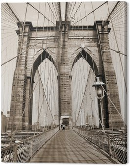 Canvas Print the brooklyn bridge