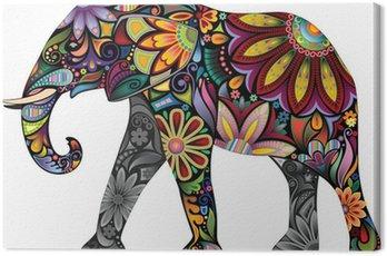Canvas Print The cheerful elephant