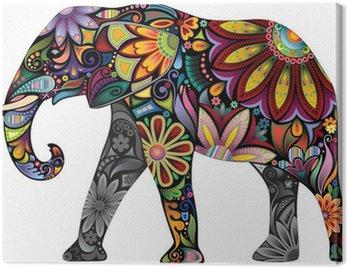 The cheerful elephant Canvas Print