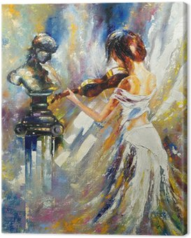 Canvas Print The girl playing a violin