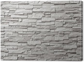 Canvas Print The gray modern stone wall