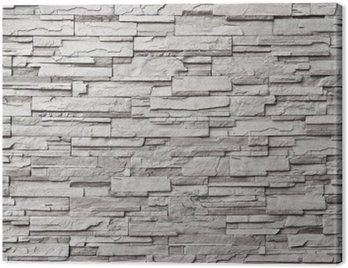 Canvas Print The gray modern stone wall