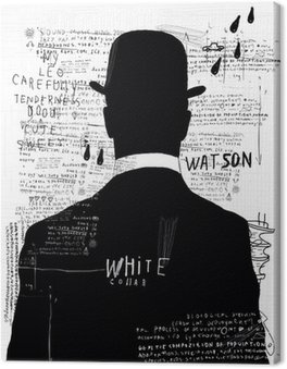 Canvas Print The man in the hat