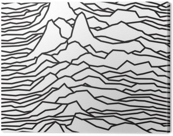 Canvas Print The rhythm of the waves, the pulsar, vector lines design, broken lines, mountains